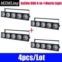 4pcs/Lot 5x30w RGB 3 In 1 Matrix Light Led Bar Light DMX512 Washer Led Outdoor /Flood Light DJ /Bar /Party /Show /Stage Light