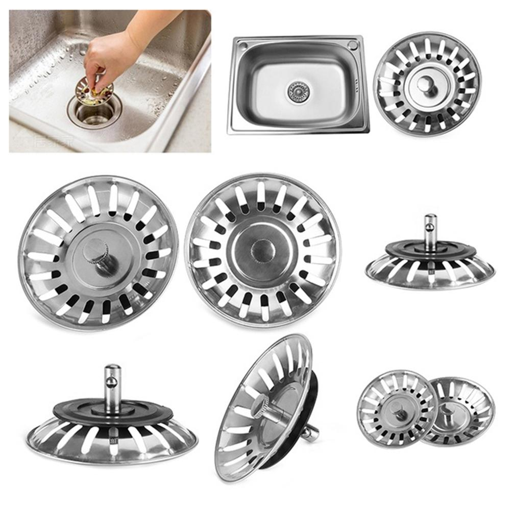 2pcs Stainless Steel Sink Strainer Plug Kitchen Sink Waste Strainer Plug  Plug For Kitchen/Bathroom For UK Sinks (79-81-84mm)