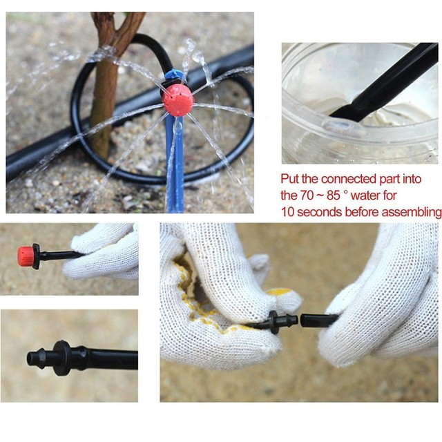 25m Micro-sprinklers Spray Water Cooling Moisturizer Water Irrigation Automatic watering Kit Set Drip Irrigation Garden Watering