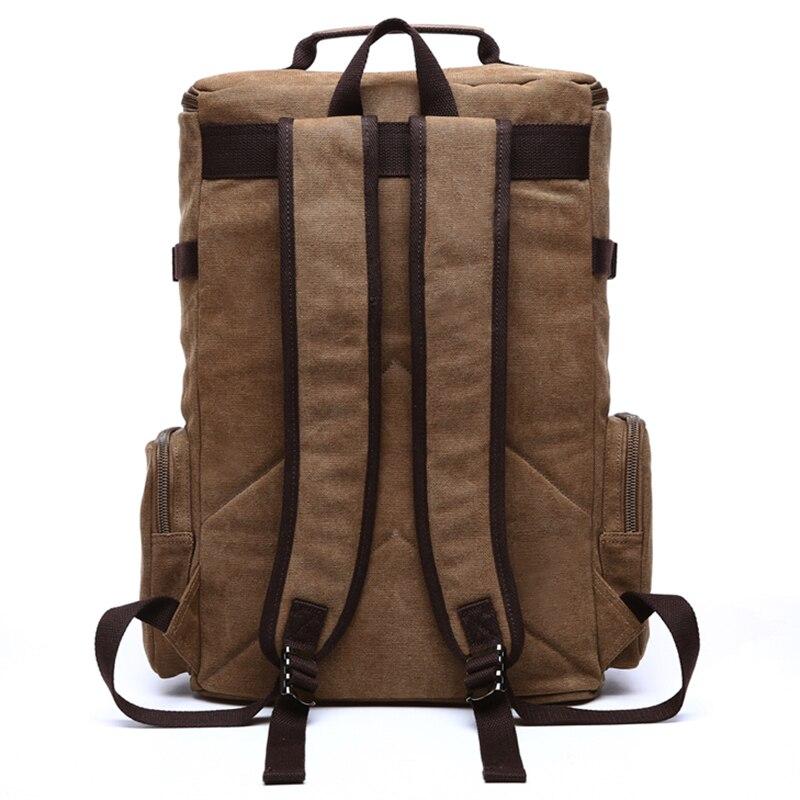 Vyrai Laptop Backpack 15 colių kuprinė drobė mokyklos krepšys - Kuprinės - Nuotrauka 3