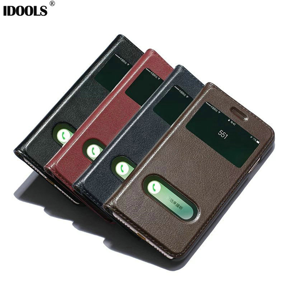 IDOOLS For Apple iPhone 7 Case Dirt Resistant Smart Cover Genuine Leather 4.7 Mobile Phone Bags Cases For iPhone 7 A1660 Fundas