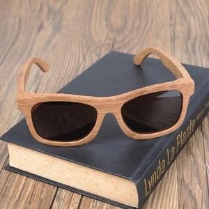 Image 4 - בובו ציפור בציר במבוק עץ משקפי שמש בעבודת יד מראה מקוטב אופנה משקפי ספורט משקפיים תיבת העץ