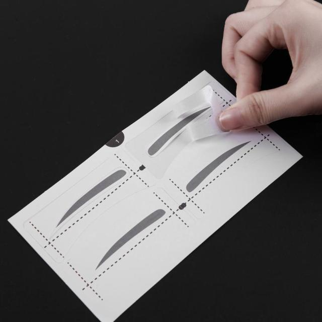 8 Types Eyebrow Stencil Eye Makeup Eyebrow Easy Drawing Guide Template Stickers Eye Brow Shaper Stencil Models Tool 3