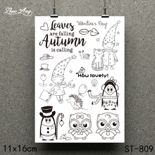 ZhuoAng 2019 Cartoon Penguin Design Clear Stamp / Scrapbook Rubber Craft Card Seamless