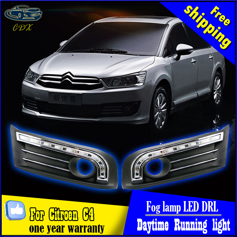 Free shipping for Citroen C4 LED daytime running light DRL with turn light for Citroen C-Quatre C4 DRL