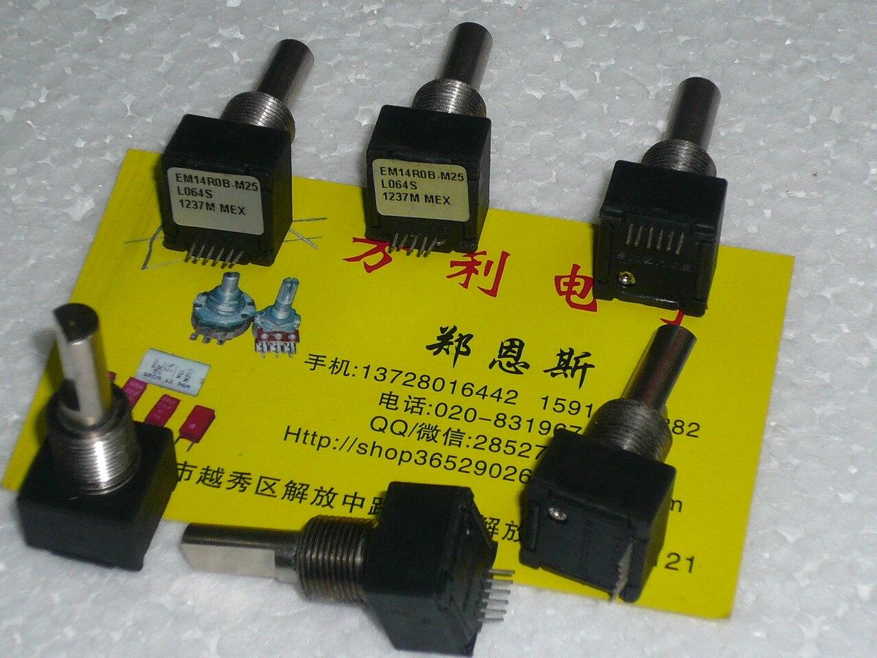 BOURNS A + B EM14R0B-M25 L064S 1237 M MEX 6 ligne commutateur encodeur optique