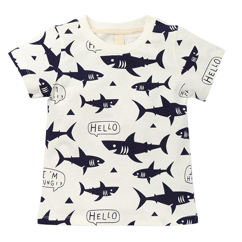 Tops Kids Tee-Shirts Short-Sleeve Girl Boys Cotton Cartoon Summer New