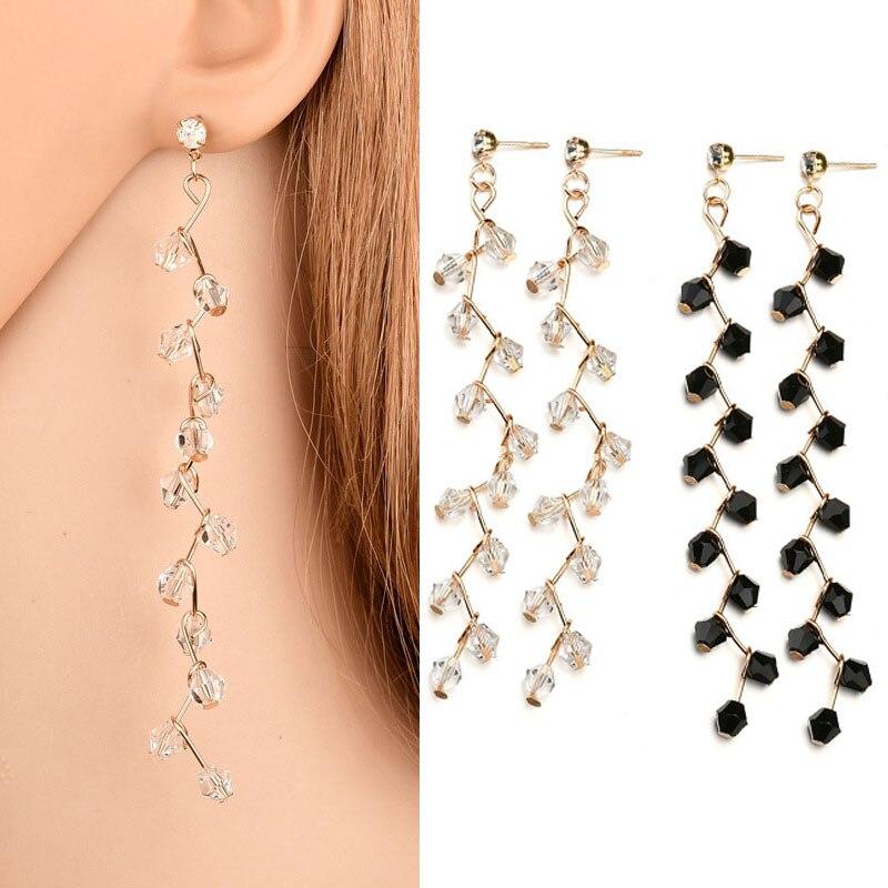 Fashion Creative Crystal Long Tassel Earring For Women Earrings Jewelry Korean Style Pendant