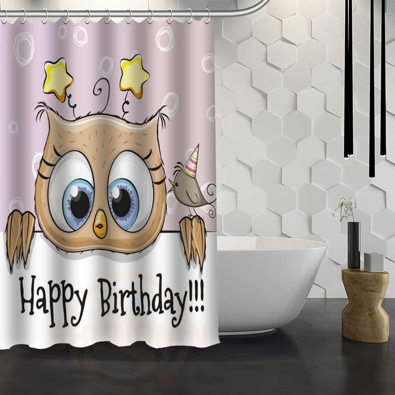 custom owl animal birds shower curtain waterproof fabric shower curtain for bathroom wjy117in shower curtains from home u0026 garden on