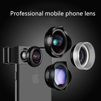 Mobile Phone Camera Lens Universal 4 in 1 Fish Eye Photo Lens for iPhone 6 7 Samsung Galaxy HTC Xiaomi Cell Phone Camera Lens