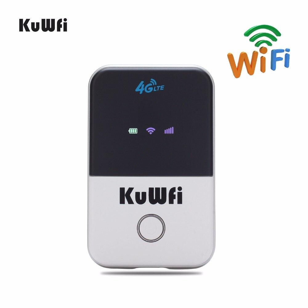 KuWFi 4g Mini Roteador Wi-fi Roteador Sem Fio LTE Desbloqueado 3g/4g FDD/TDD Portátil de Bolso wi fi Router Com Slot Para Cartão Sim