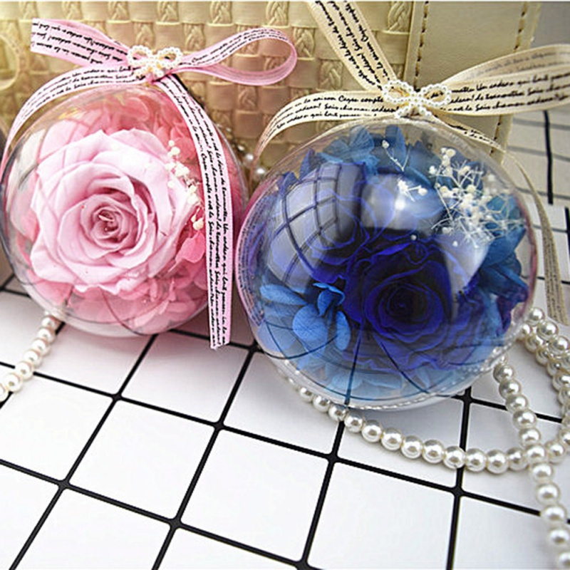 Car Pendant Bowknot Glass Flower Car Hanging Ornament