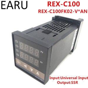 REX-C100 REX-C100FK02-V * Цифровой ПИД-регулятор температуры, термостат SSR выход 0-400 градусов, Универсальный вход