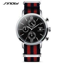 Sinobi 2017 relógios de quartzo esportes homens nylon multi-função de auto data assista militar relógio de pulso reloj hombre uhren damen f18