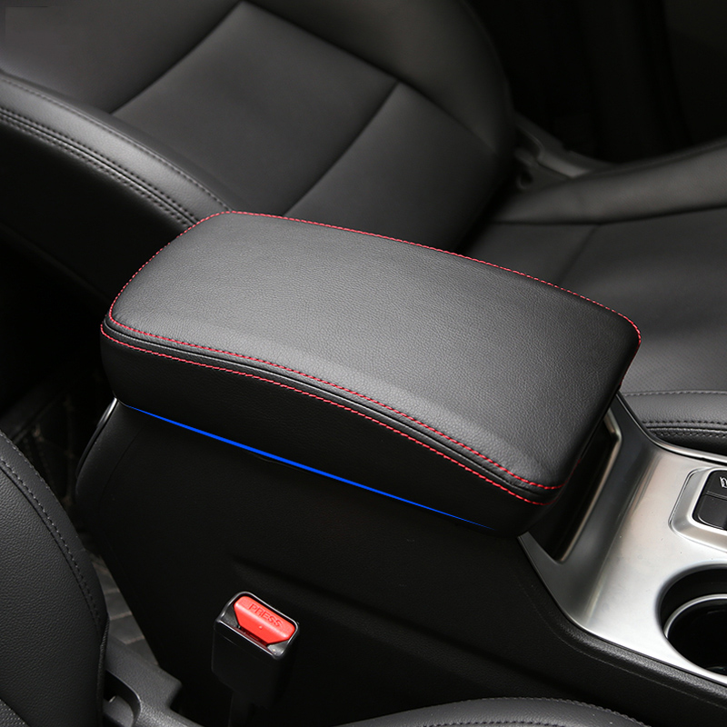 Leather Car Console Armrest font b Box b font Sleeve Cover Pad Center Storage font b