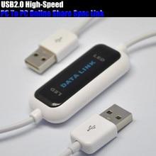 USB 2,0 High Скорость ПК к ПК-поделиться синхронизации Ссылка Чистая Прямая передачи файлов данных мост светодиодный кабель легко скопируйте между 2 компьютер