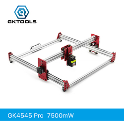 GKTOOLS все металлические 45*45 см 7500 МВт дерево лазерный гравер резак гравировка DIY машина мини ЧПУ принтер ШИМ, Benbox GRBL EleksMaker