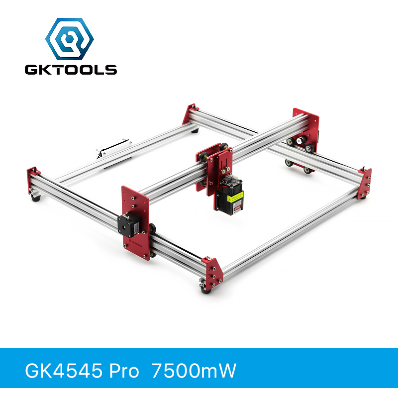 GKTOOLS All Metal 45*45cm 7500mW Wood Laser Engraver Cutter Engraving DIY Machine Mini CNC Printer PWM,Benbox GRBL EleksMakerGKTOOLS All Metal 45*45cm 7500mW Wood Laser Engraver Cutter Engraving DIY Machine Mini CNC Printer PWM,Benbox GRBL EleksMaker