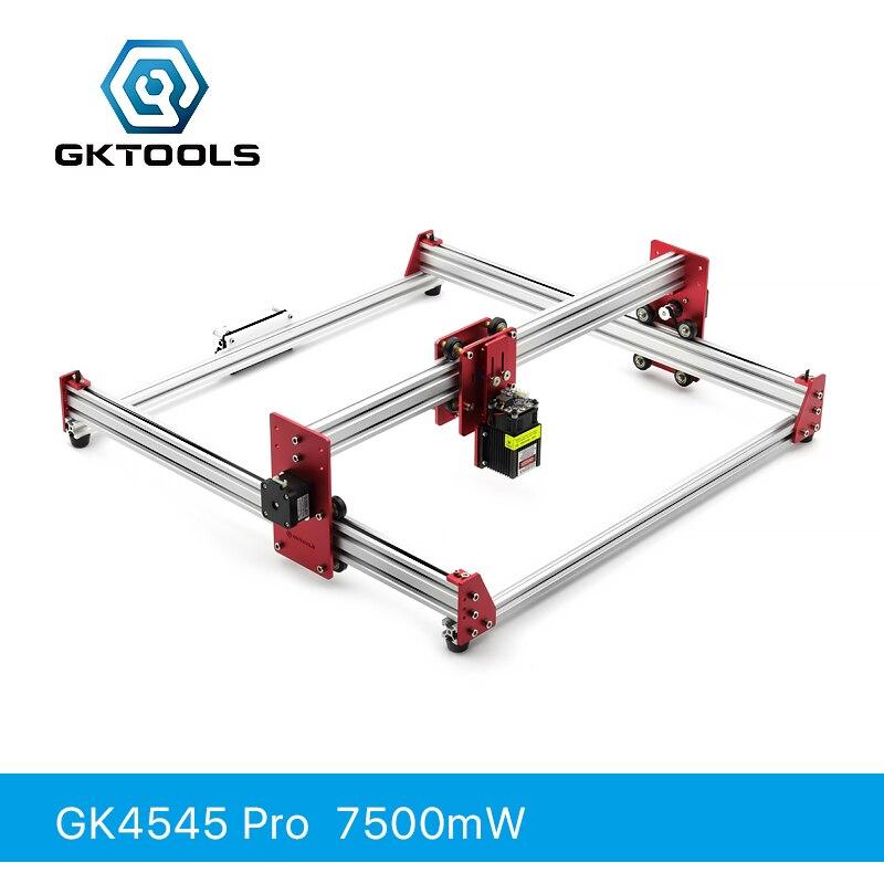 GKTOOLS Todos Metal 45*45 cm 7500 mW Máquina de Mini CNC Madeira Gravador Do Laser Cortador De Gravura DIY Impressora de PWM, benbox GRBL EleksMaker