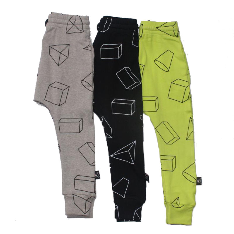 Boys Pants Children Harem Pants Geometric Print Baby Girls Trousers Kids Toddler Cotton Clothing 2017 nununu