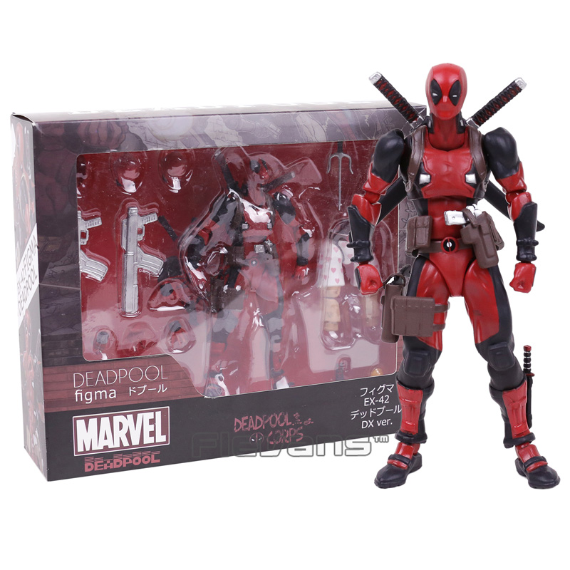 MARVEL Deadpool figma EX-42 DX ver.  PVC Action Figure Collectible Model Toy 16cm action ex