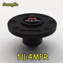 40 pçs/lote para a marca nl4mpr speakon conectores tipo nl4fx soquete para 4 pólo plug macho conector de áudio para neutrik