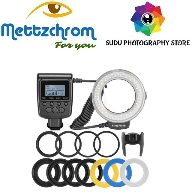 HD-130 48 led Macro Ring Flash Bundle with 8 Adapter Ring for DSLR Camera for CANON for NIKON PENTAX OLYMPUS