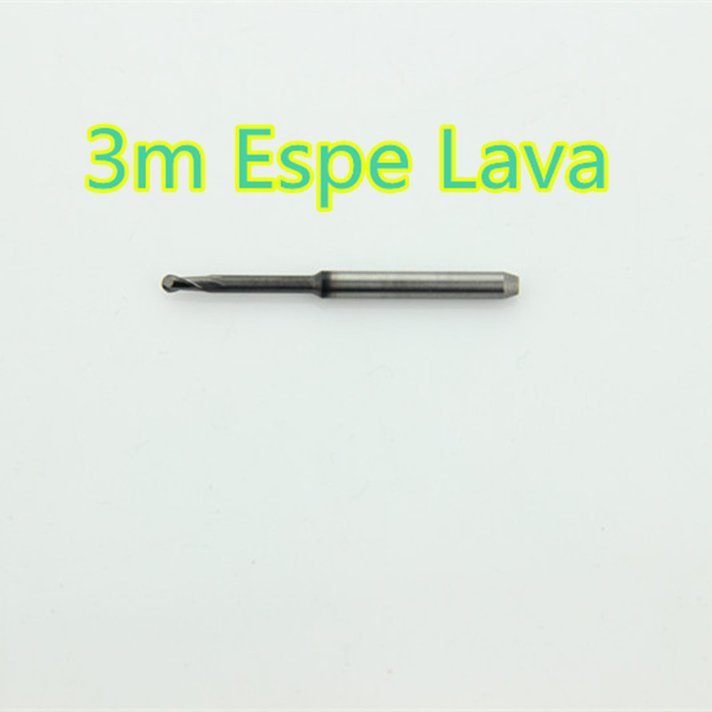 US $94 83 6% OFF|5PCS/lot Dental Tungsten Carbide Milling Bur Machine 3m  Espe Lava System 1 0/2 0mm Length 38MM For Cuting Zirconia PMMA And Wax-in