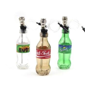 Tuyau en forme de bouteille de boisson, tuyau de narguilé en verre, herbe chicha-fumer, narguilé fumer un tuyau, livraison gratuite
