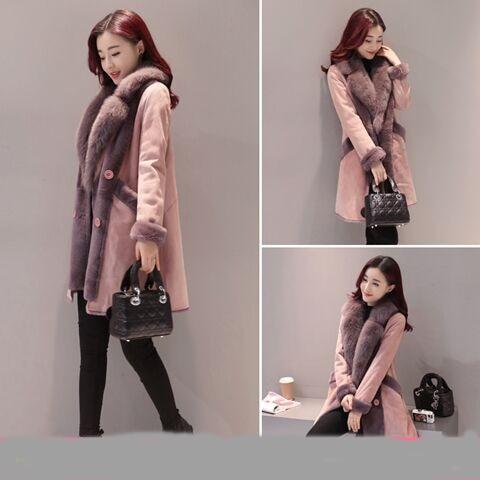 Épaississement Veste 2018 De Marée Coréenne Hiver Mode Section Nouveaux Agneau Coton Col Grand 1 Manteau Longue Femmes Mme Fourrure xTnwSRq7Y