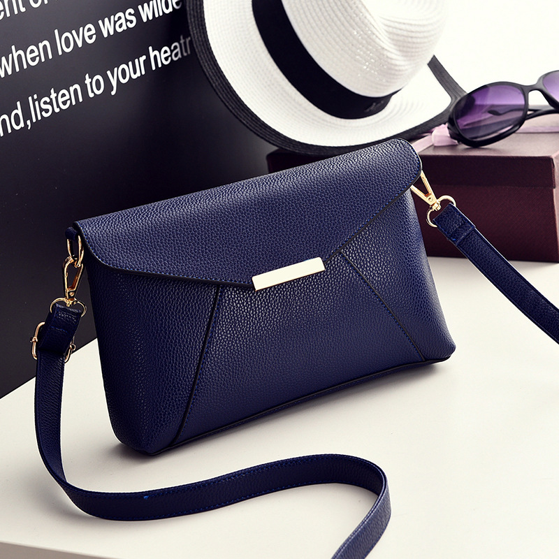 das senhoras ombro bolsa crossbody Bag Color : Blue Black Bag Female