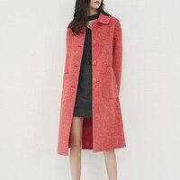 2019 зимняя кашемировая одежда длинное шерстяное пальто женское пальто корейское шерстяное пальто модный однобортный кардиган жакет элеган