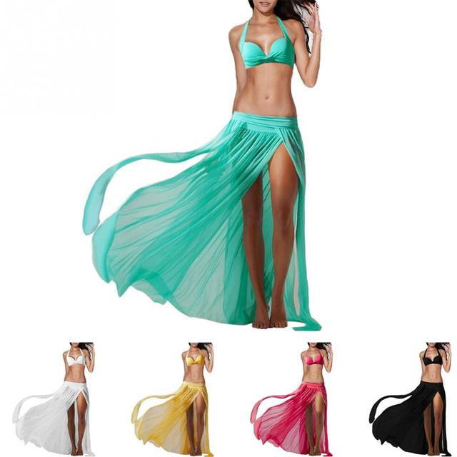 2017 Summer Style Women Lady Veil Colorful Chiffon Beach