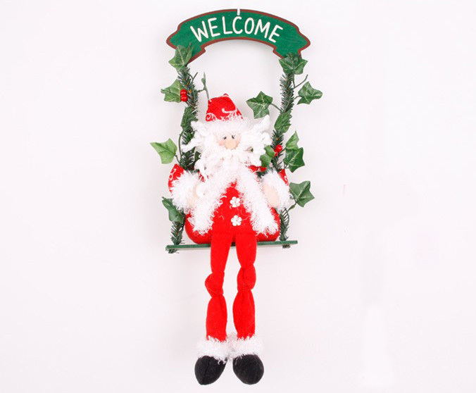 Free shipping hot sale christmas decoration swing santa for Letter g decoration