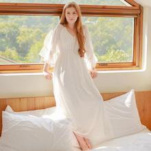 SUMMER Lace Princess Women's Long Nightgowns Viscose Cotton Ladies Nightdress roupas de dormir feminina Sleepwear D53