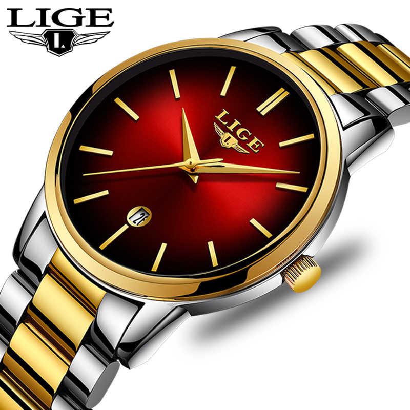 LIGE Novo Negócio Das Mulheres Relógio de Quartzo Das Senhoras Marca De Topo de Luxo Senhoras Relógio Pequeno Mostrador Seção Fina Menina Relógio Relogio feminino