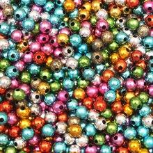 1000 шт разноцветные Круглые акриловые бусины для маркировки ювелирных изделий Diy браслет Шарм рукоделие Аксессуары Ювелирные изделия Поиск
