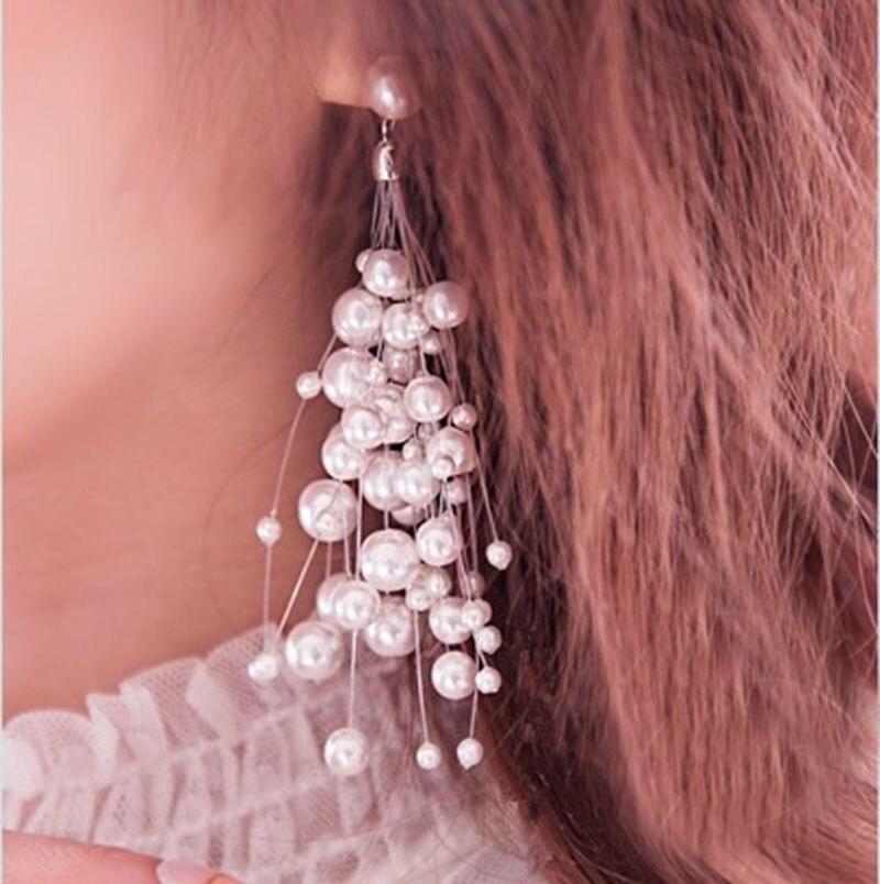 1830fe19d6707 Worldwide delivery dangling pearl earrings in NaBaRa Online