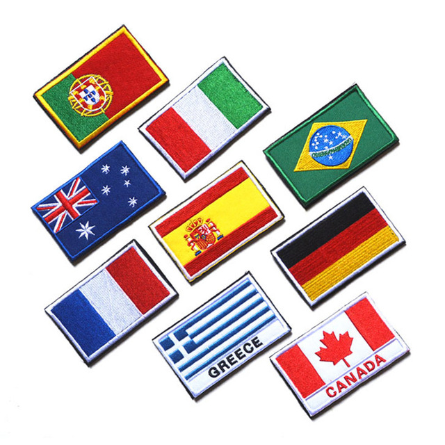 Handmade Country Flag Patches
