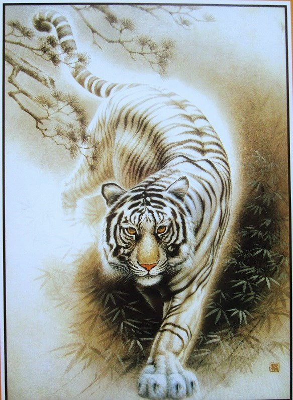 White Tiger 1000 pieces The paper puzzles  jigsaw puzzle white card adult children's educational toys virgo the wooden puzzle 1000 pieces ersion jigsaw puzzle white card adult heart disease mental relax 12 constellation toys