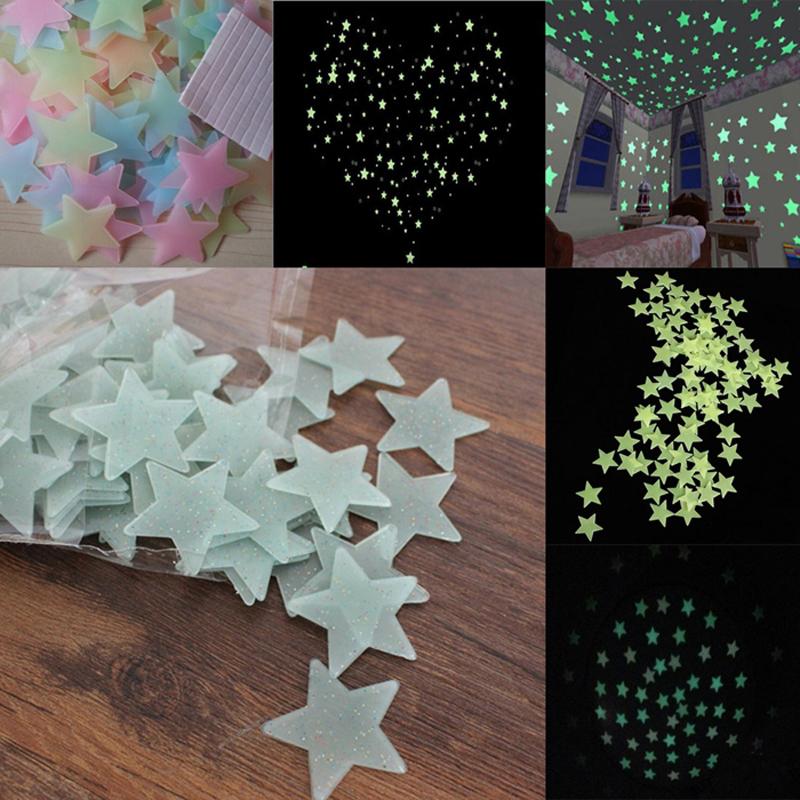 HTB1QXn4QVXXXXXrXVXXq6xXFXXXJ 100pcs Fashion Wonderful Solid Stars Moon Glow in the Dark For Bedroom
