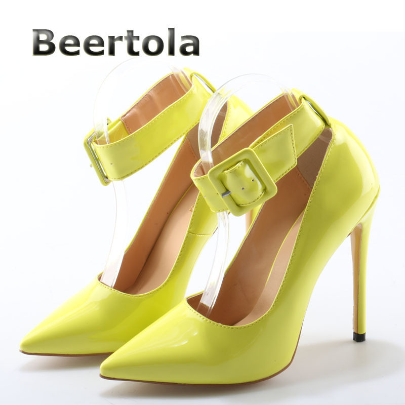 54419d8eca13 ... Plus Size Nude Stilettos. US  63.00. 0 sold. Women Party Shoes Sexy  Pumps Beertola Ultra High Heels Fluorescent Yellow Women Pumps Pointed Toe  Thin