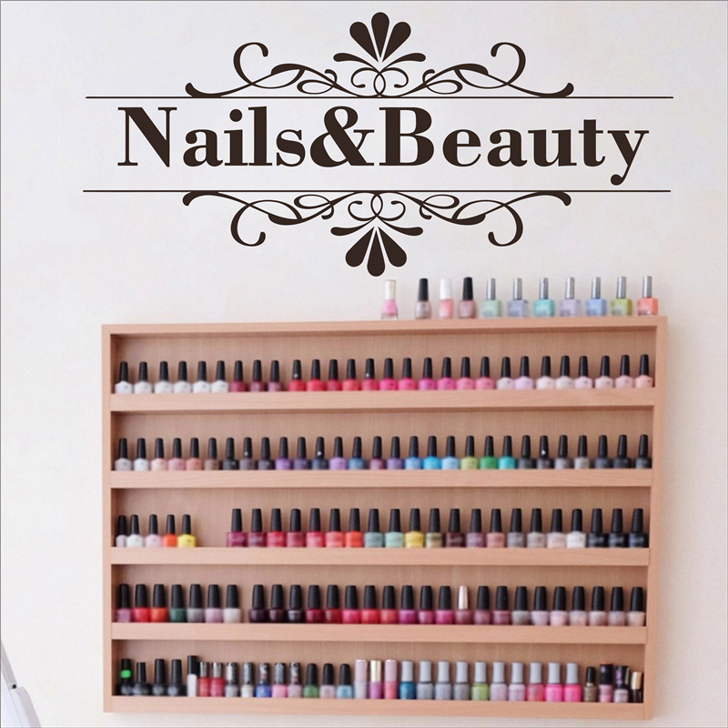 nails and beauty wall sticker