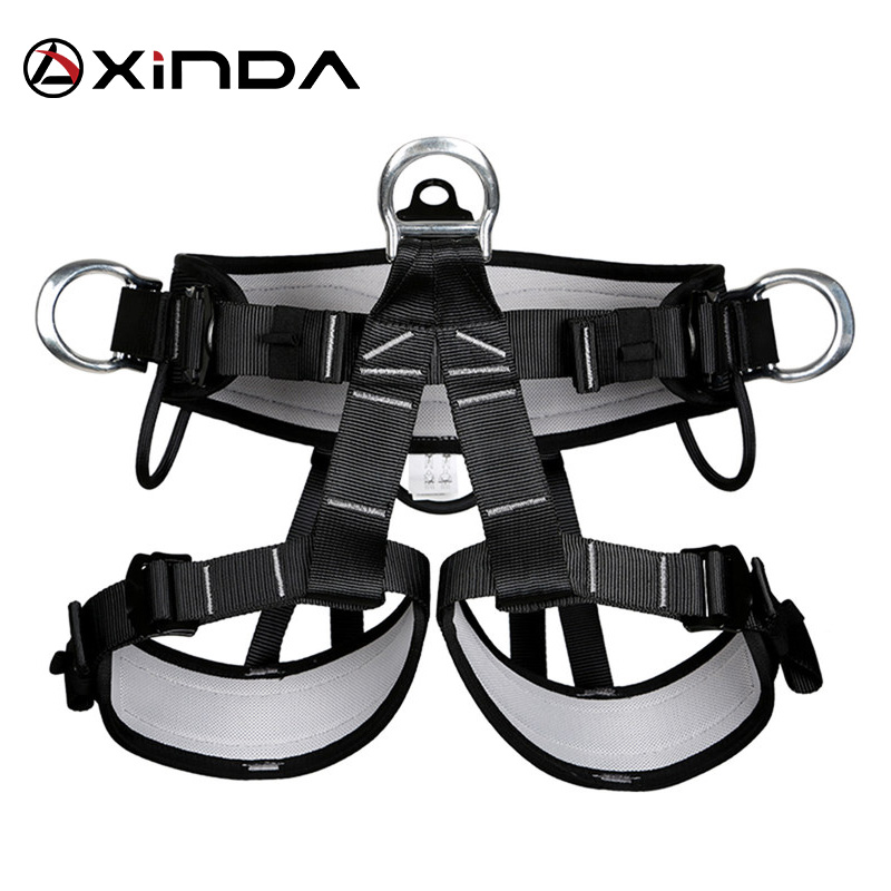 XINDA Camping Outdoor Hiking Rock Climbing Half Body Waist Support Safety Belt Climbing Tree Harness Aerial  Sports Equipment
