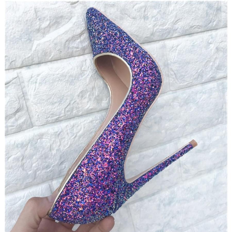Frau Heel Mstacchiv 8cm Pailletten 12cm Sexy High Glitter Heel Partei 10cm Schuhe Spitz Süße Mode Heel Heels 33 44 Damen 2019 xYTnWwYrU