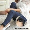 ЖЕНЩИНА девушка брюки Кружева нижние леггинсы хлопок моды леггинсы summer осенние брюки дамская сексуальные леггинсы