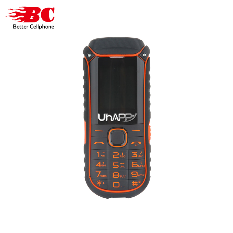 Original UHAPPY A5000 Russian Keyboard Flashlight Dual Sim Card 2G GSM 4400mAh Big Battery Long Standby