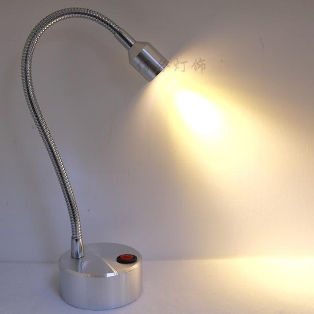 Batería LLEVÓ la lámpara de la lámpara ahorro de energía lámpara de escritorio de la batería con fuente de alimentación de emergencia manguera joyería pantalla del contador de la lámpara de fondo