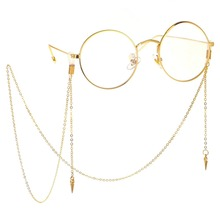 Cuerda Gafas Limited Hot Sale Women Zinc Alloy Solid Sunglasses Chain Popular Metal Glasses Rope Pendant Jewelry