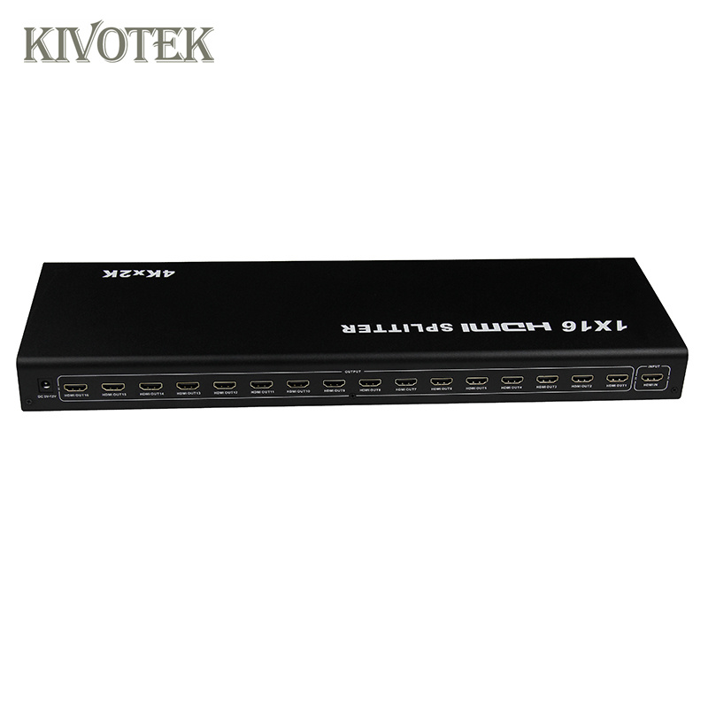 Image 3 - 1x16 4K HDMI Splitter Box 1 in 16 out,Hdmi1.4 1 to 16 ports splitter Supports DTS HD Dolby AC3/DSD For HDTV HD PlayerBest Price,-in Computer Cables & Connectors from Computer & Office